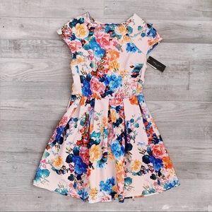 Romeo & Juliet Couture Floral Scuba Print Dress